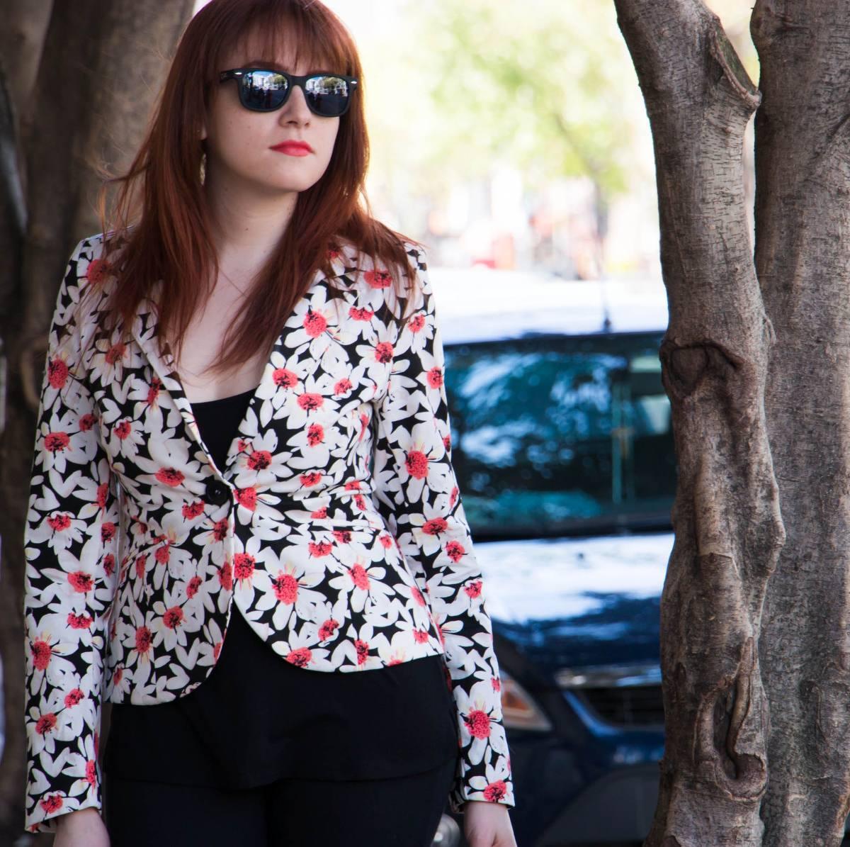 Venta de blazer mujer floreados