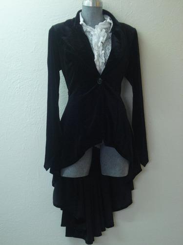 saco gotico terciopelo asimetrico steampunk victoriano goth