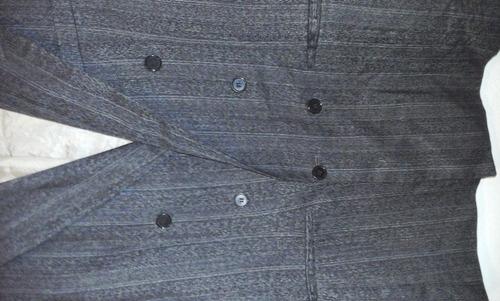 saco gris oscuro monte cristo talla m