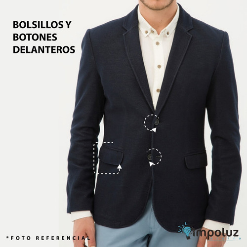 saco hombre blazer chaqueta slim fit tela liviana / impoluz