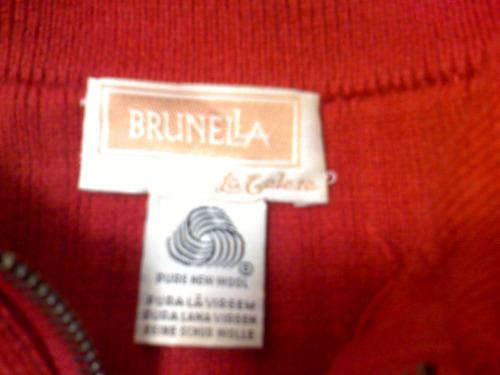 saco lana dama con cierre tipo camperita