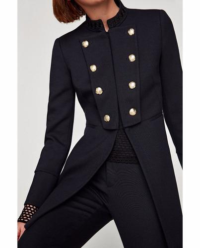 saco levita blazer doble botonadura dama importado zara