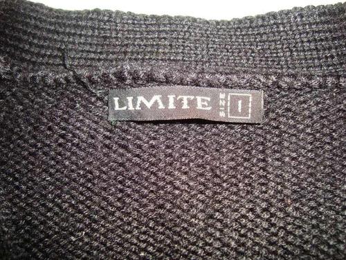 saco limite negro dama talle 1 tipo bariloche permuto