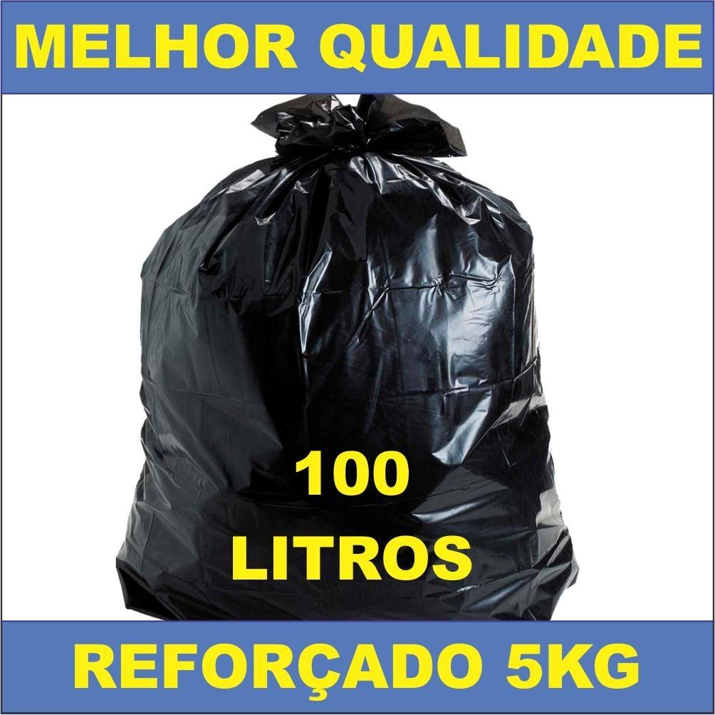 3aa9b3ff3 saco lixo preto reforçado 100 litros c/ 5 kg boca larga. Carregando zoom.