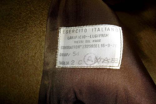 saco militar ejercito italiano.