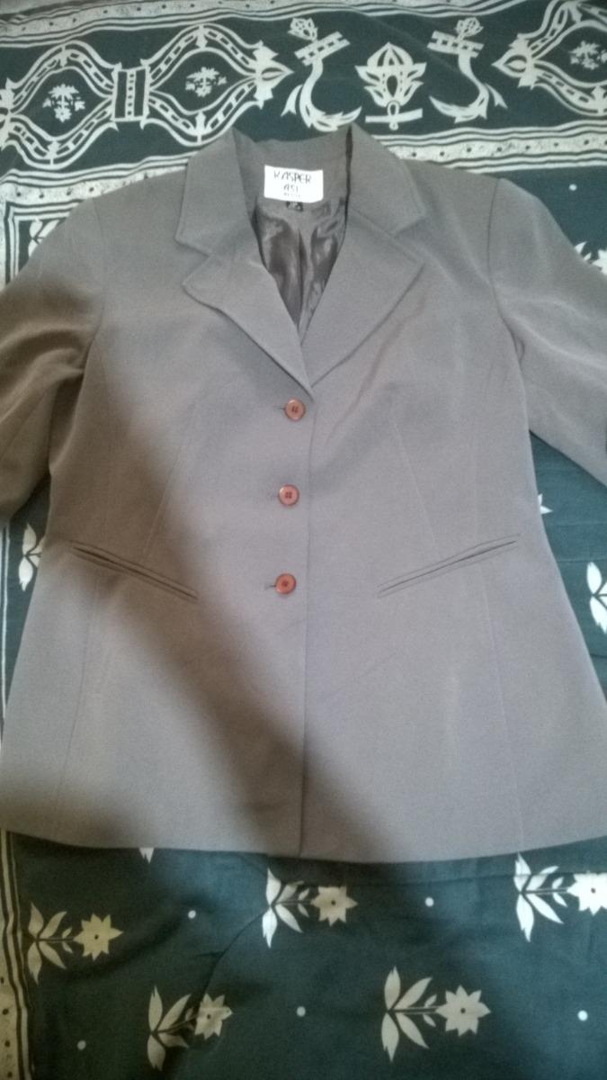 saco mujer marron gris verdoso talla 14p vestir kasper. Cargando zoom. 06a06d59fee5