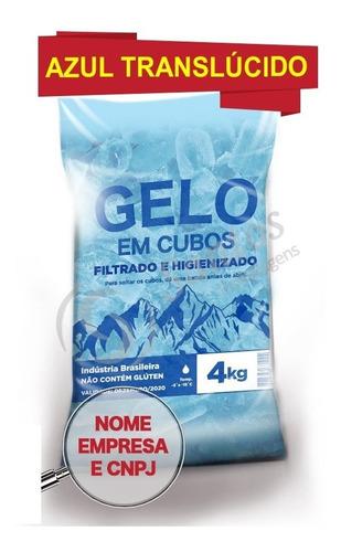 saco p gelo azul translúcido 4kg s/alça código de barra c500