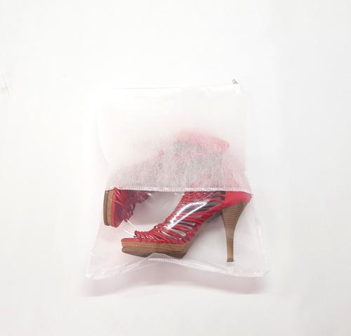 saco para sapato com zíper - kit com 10 - 33x40cm