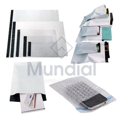 saco plástico correio destinatário / remetente 32x40 -100 un