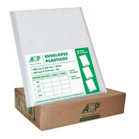 Saco Plastico Envelope A4 Ofício Com 4 Furos 100 Unidades!!!