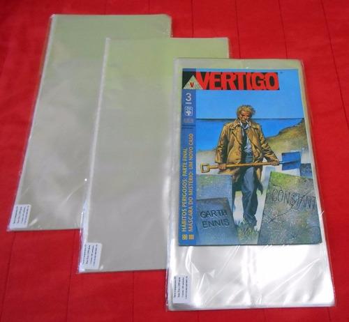 saco plástico p/ gibis formato americano e mangás berserk