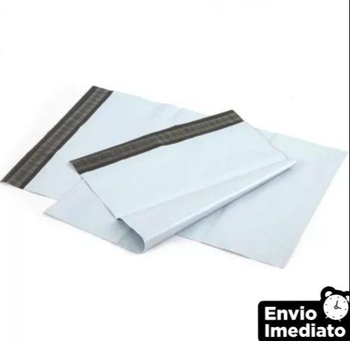 saco plástico - tipo envelope c/ lacre correio 32x40 100 und