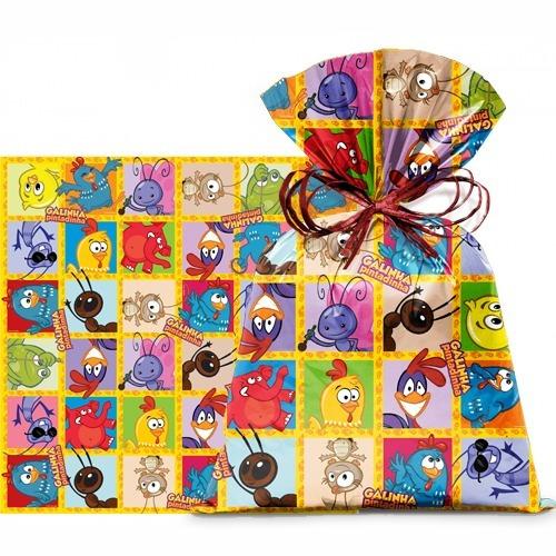 saco p/presente lic festa pintadinha 60x90 cm c/25