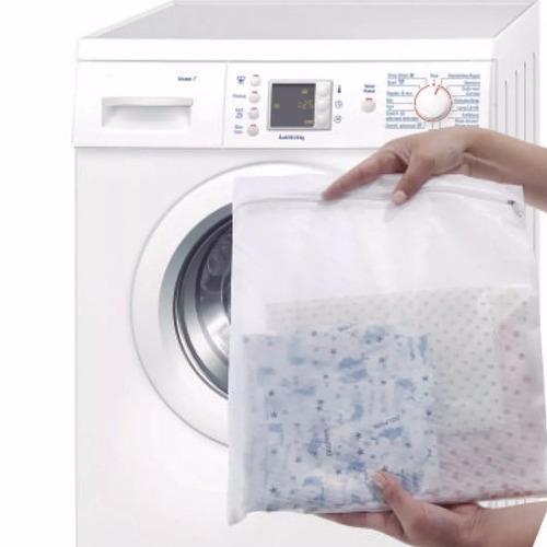 saco protetor para lavar roupas delicadas com/ zíper promoçã