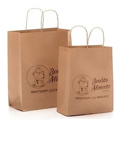 saco / sacola papel kraft personalizado - monte seu kit