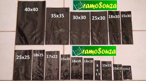 saco saquinho plástico para mudas - 18 x 25 x 0,20 - 150 un