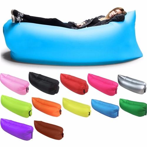 saco sofá cama dormir inflável descanso camping praia parque
