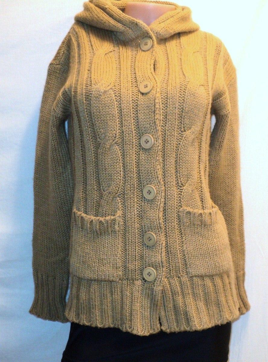 en venta en línea gran descuento 100% Calidad Saco Sweater Chaqueta Lana Capucha Cinto Tapa La Cola - $ 350,00