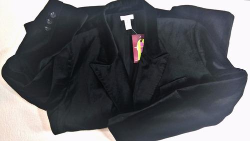 saco terciopelo chico's - fashionella - 2xl t9y1 t9y2