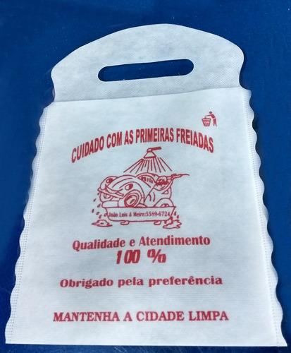 saco tnt lixinho com desenho padrao impresso (pcte c/100 un)