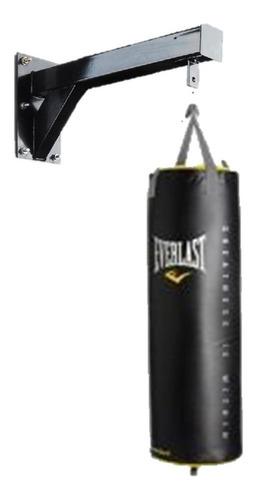 saco tula boxeo profesional everlast + soporte pared gancho