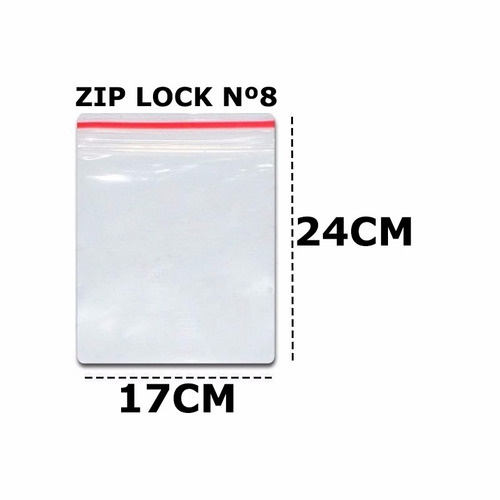 saco zip lock saquinho ziplock 17x24 c/100un plastico