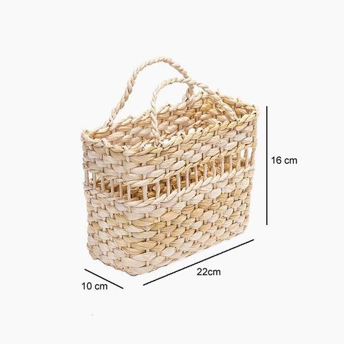 sacola bolsa palha de milho praia feira ref.2602 22x10x16cm