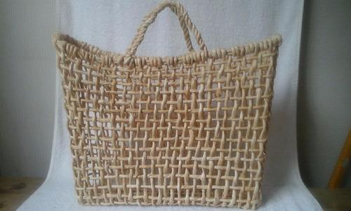 sacola / bolsa palha milho compr 42, alt 32, larg 10 vazada