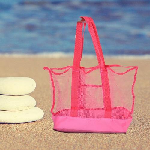 sacola bolsa praia rede viagem drenante infantil camping