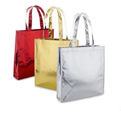 9b0f6f94b Sacola Bolsa Tnt Metalizado Brinde Compras Marketing - 35 Un - R ...