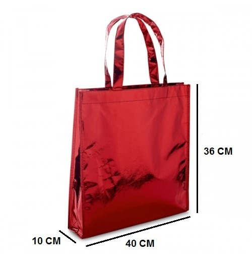0513893d5 Sacola Bolsa Tnt Metalizado Brinde Compras Natal Presente 6u - R$ 40 ...