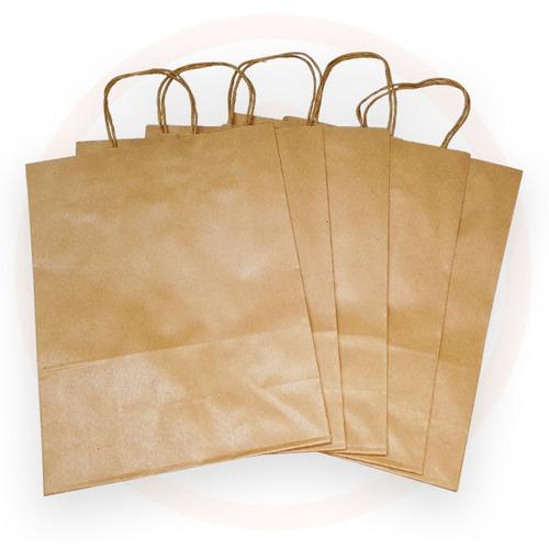 sacola de papel kraft com alça - 40 x 32 x 13 - 50 und