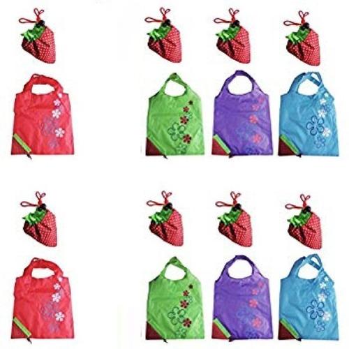 sacola ecobag nylon morango fruta reutilizável retornável