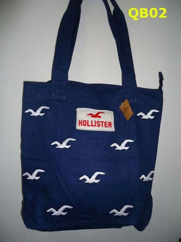 sacola hollister com ziper