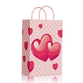 63e67e779 Sacola De Papel Presente Love no Mercado Livre Brasil