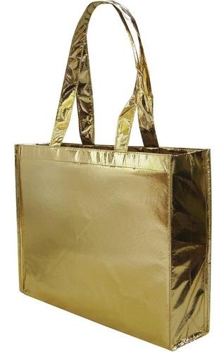 sacola metalizado laminado personalizar várias cores 40x50