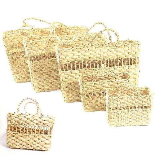 sacola palha de milho tamanho infantil 35 peças