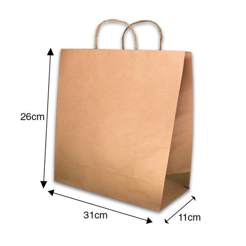 sacola papel kraft  31x11x26 ( 50 unid promoção aproveite )