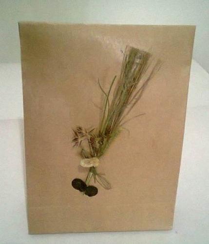 sacola papel kraft. 7x7x4  pct. c / 20 unds.