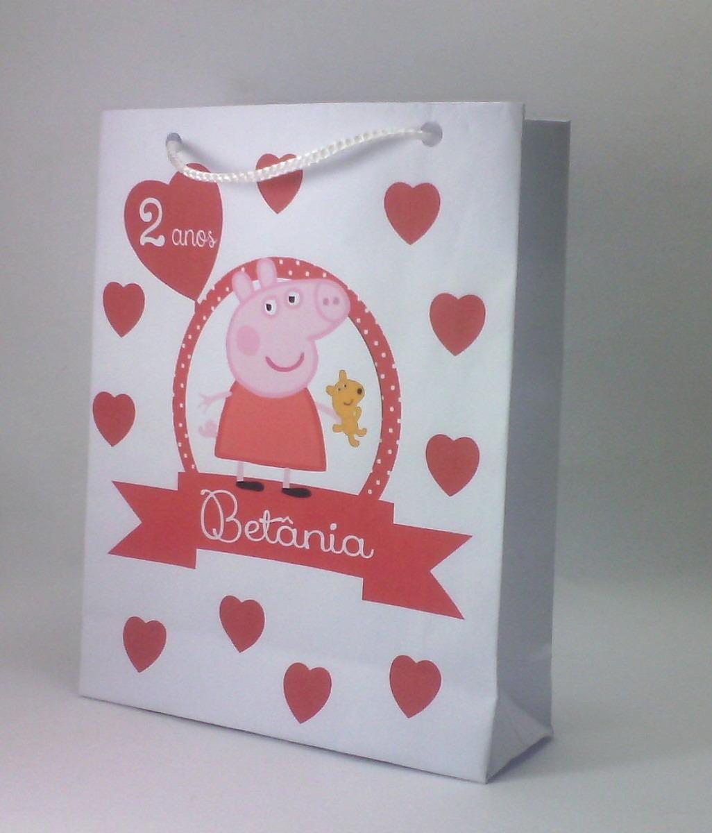 d6c87f3a7 Sacola Peppa Pig Personalizada 23x16cm (mod 4) 20uni - R$ 40,00 em ...