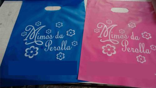 sacola personalizada 20x30 espessura 012 - 500 sacolass