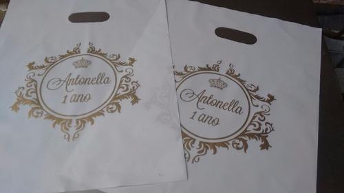sacola personalizada 30x40 espessura 07 - 500 sacolass
