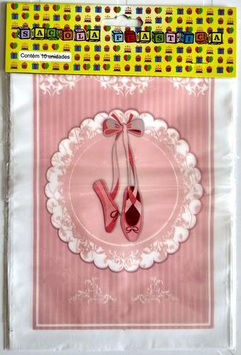 sacola plastica bailarina (30 sacolas)