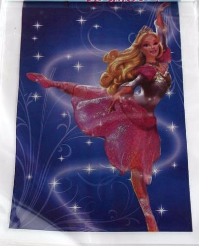 sacola plastica - barbie bailarina (30 sacolas)
