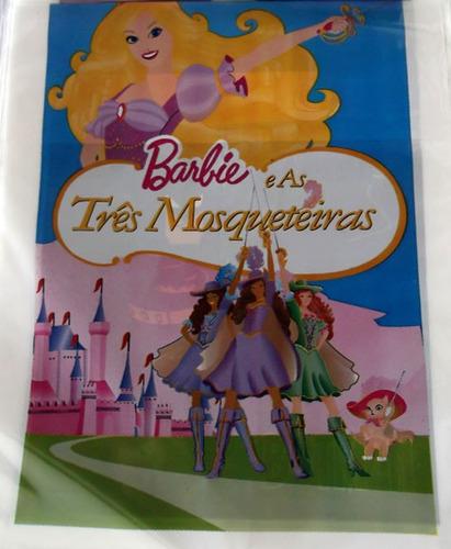 sacola plastica barbie tres mosqueteiras (30 sacolas)