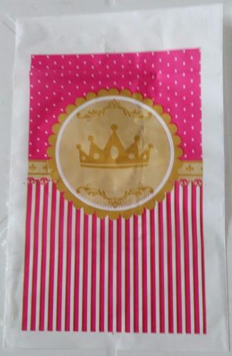 sacola plastica coroa rosa (30 sacolas)