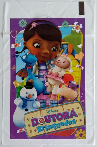 sacola plastica doutora brinquedos (30 sacolas)