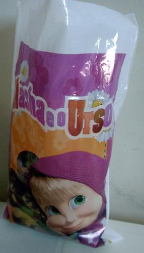 sacola plastica masha e o urso (30 sacolas)