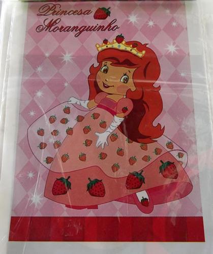 sacola plastica princesa moranguinho (30 sacolas)