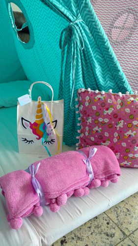 sacolas de unicórnio - lembrancinhas, festa do pijama.